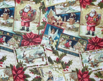 Vintage Style Christmas Fabric, Vintage Postcards, Christmas Cards, Vintage Angels, Christmas Scenes, By the Yard