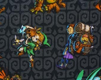Legend of Zelda, Zelda and Friends,  Zelda fabric, Zelda Characters,  Nintendo Fabric, By the Yard