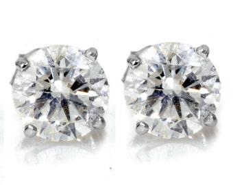 1.00CT Diamond Studs 14K White Gold
