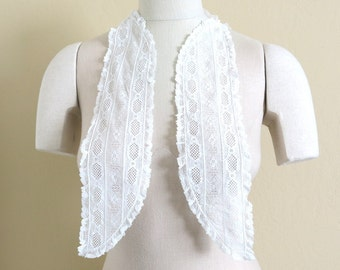 White Lace Collar Rows Bobbin Laces Valenciennes Edging 780a