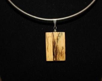 Spalted Oak Wood Necklace/Pendant/Slide