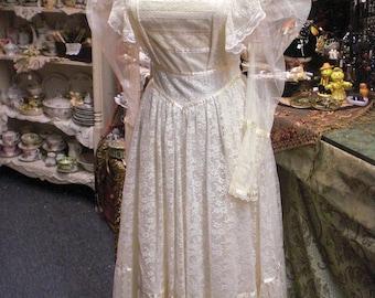 Vintage Lace Ecru Gunne Sax Prairie Dress