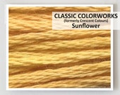 SUNFLOWER : Classic Colorworks 6- strand embroidery floss hand over dyed overdyed thread formerly Crescent Colours cross stitch