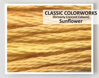 SUNFLOWER  : Classic Colorworks hand-dyed embroidery floss cross stitch thread at thecottageneedle.com