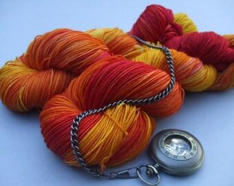Soft Socks 4 ply Yarn. Maple, Maple Burning Bright