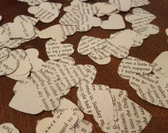100 Paper hearts - Confetti - Wedding Table decor