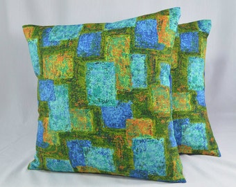 "Retro Pillow Cover Cushion Cover Vintage Pillow Retro Pillow Abstract Pillow Midcentury Throw Pillow - 16"" Pillow Cover"