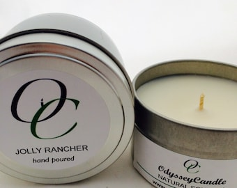JOLLY RANCHER//Highly Scented SOY Candle 6oz Tin