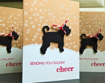 Giant Schnauzer Cards Set of 3, Dog Christmas Cards, Dog Holiday Cards Set