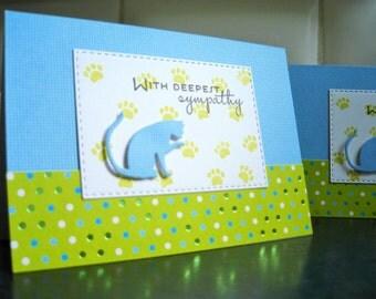 Cat Sympathy Card, Kitty Lover Card, Pet Sympathy Card