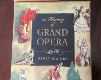 1940s book - A Treasury of Grand Opera- music, piano arrangements