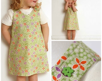 Pinafore Dress  sizes 6 & 8 years only- PDF Sewing Pattern