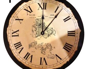 Camera Clock   Camera Patent   Gift   Photographer Gift   Large Clock   Camera   Kitchen Clock   Cool Gift   Unique Clock