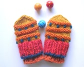 Thumbless Baby Mittens, Hand Made Baby Mittens, Hand Knit