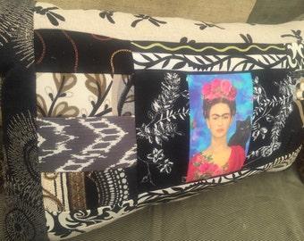 Frida Kahlo - Patchwork - Contemporary - Custom Pillow