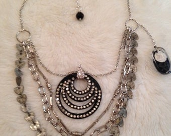 Upcycled Recycled Assemblage Necklace