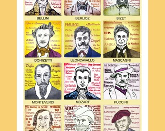 12 Opera Composers poster