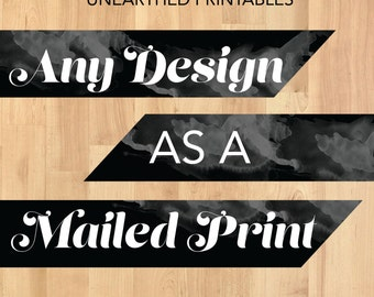 Printing Service for UnEarthed Printables