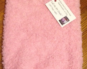 Ready to ship! Newborn pink hand knit baby cuddle bag, cocoon or sack.