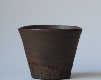 Wood Fired Cup, Reduction Cooled Local California Clay, #592