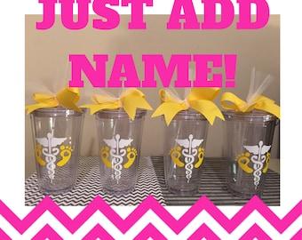 Personalized Nurse Tumblers - RN Tumblers - Nurses Week - Best Nurse Gift - Student Nurse - Grad Gift For Nurse
