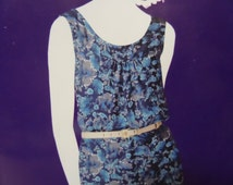2012 Gathered Shaped Yoke Pullover Dress Pattern Simplicity 2004 Miss 6-24. Sleeveless Pullover SEW SIMPLE DRESS Pattern at WhiletheCatNaps