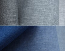 Ombre linen fabric sample