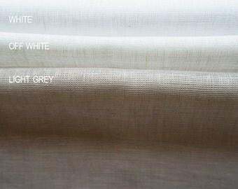 Sheer linen fabric samples White Off white and Light grey Lovely Home Idea