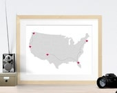 Custom US Road Trip Vacation Travel Map