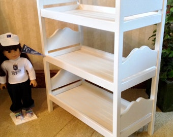 American Girl Doll:  Furniture, doll triple bunk bed