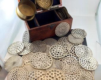Antique Diamond sieve. gemstone sorter.  Perles Pierres Jewelers Tool  No.0038 hs