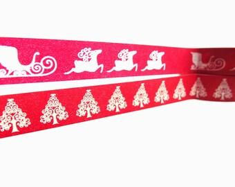 Christmas Washi Tape, Reindeer Washi Tape, Christmas Tree Washi Tape, Red Washi Tape - Washi Tape Sale