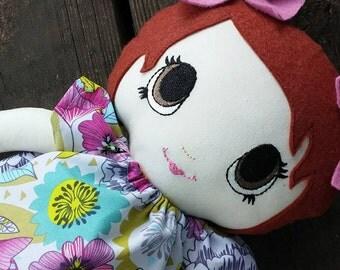 "BIg sister, Personalized, Custom, Handmade cloth doll 16"" , dress up doll, best friend, gift set, Rag doll keepsake"