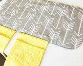 Diaper Changing Pad - Diapering on the Go - Grey with White Arrows