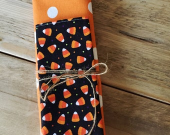 Halloween Placemat and Napkin Set - candy corn