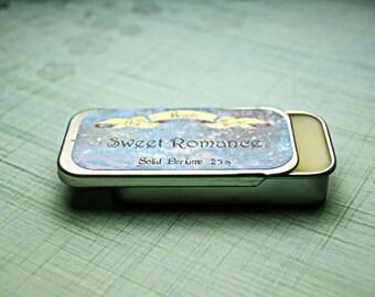 Solid Perfume - Sweet Romance - Perfume Crème Tin - Fresh Strawberries, Blood Oranges, Chocolate, Cinnamon