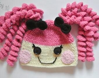 Lalaloopsy Crumbs Sugar Cookie inspired crochet hat