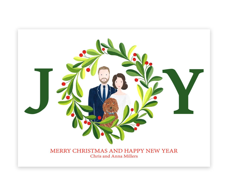 Custom Christmas Card Family Portrait Holiday Card Custom