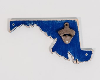 Maryland Navy Bottle Opener, all states and colors available