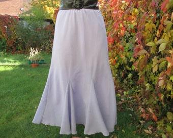 Long Skirt Vintage / Maxi / Violet / Size  EUR40 UK12