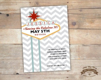 Las Vegas Sign Invitation, Vegas Theme Party Invite, Bachelorette, Bachelor, Wedding, Birthday Printable