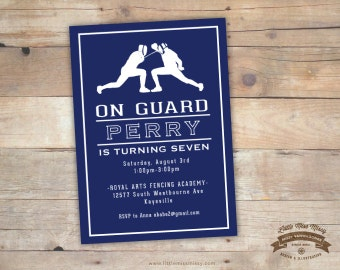 Fencing, Birthday Party Invite- 5x7 DIY, Printable