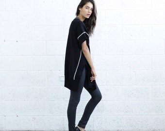 Sale 70 Off Embroidered Poncho,Black .