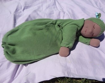 """Kit to make a 16"""" Waldorf 5lb Heavy Baby doll. Includes PDF instructions for completion of the doll, and PDF pattern for gown."""