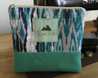 Turquoise Leather Pouch