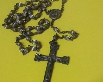 Antique Vintage Sterling Silver Rosary Cross estate Art Nouveau RARE