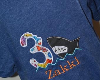 Shark Bite Birthday Shirt
