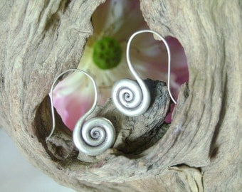 Hilltribe Silver Earrings - The Spiral of Life (4)