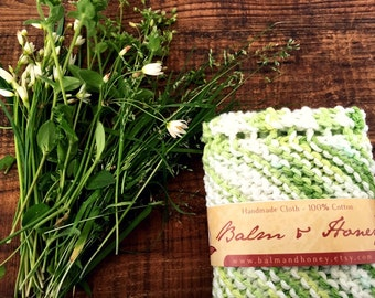 Country Meadow, A House Helper, Dish cloth, Knit Dishcloth, Kitchen Cloth, Cloth, Cleaning