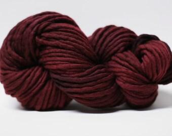 Single Ply Yarn Merino Slub Hand Dyed 44sp15026 Red Velvet